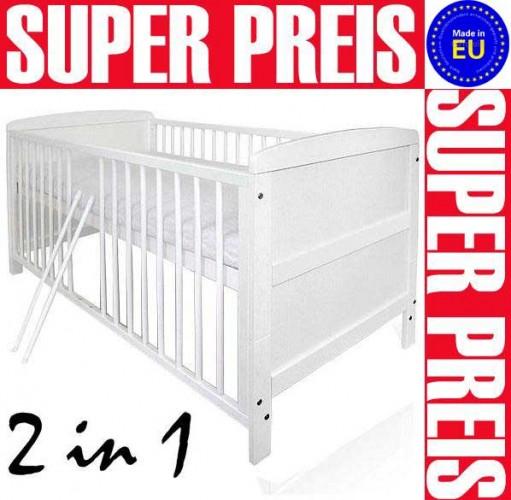 Baby-und-Kinderbett-NATURA-Weiss-140-cm-x-70-cm-umbaubar-zum-Juniorbett-2-in-1
